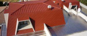 foto parte di casa dall'alto smaltimento amianto