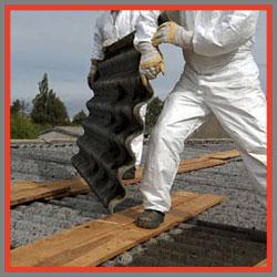 lavori rimozione tegole smaltimento amianto