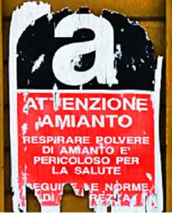 cartello pericolo smaltimento amianto