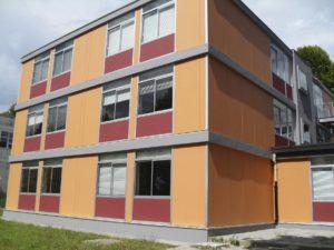 foto edificio da lato smaltimento amianto