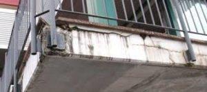 balconi rovinati smaltimento amianto