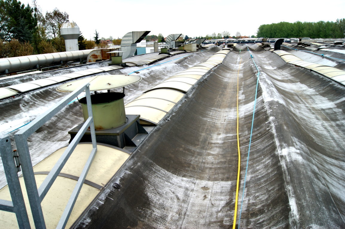 lavoro impermeabilizzazione guaina smaltimento amianto