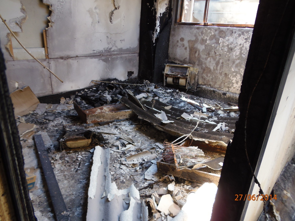 effetti incendio smaltimento amianto