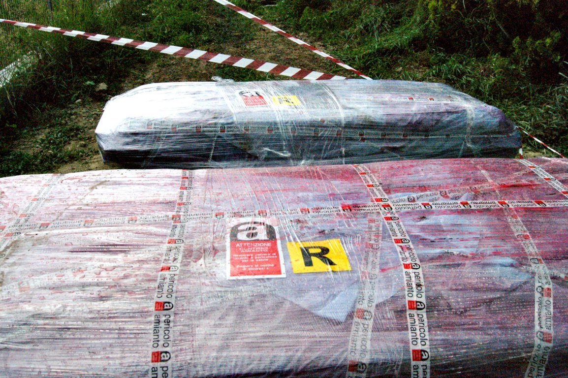 lastre impacchettate smaltimento amianto