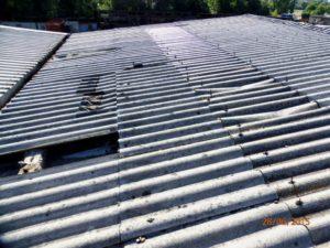 tetto rovinato smaltimento amianto
