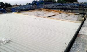 parte tetto recintata smaltimento amianto