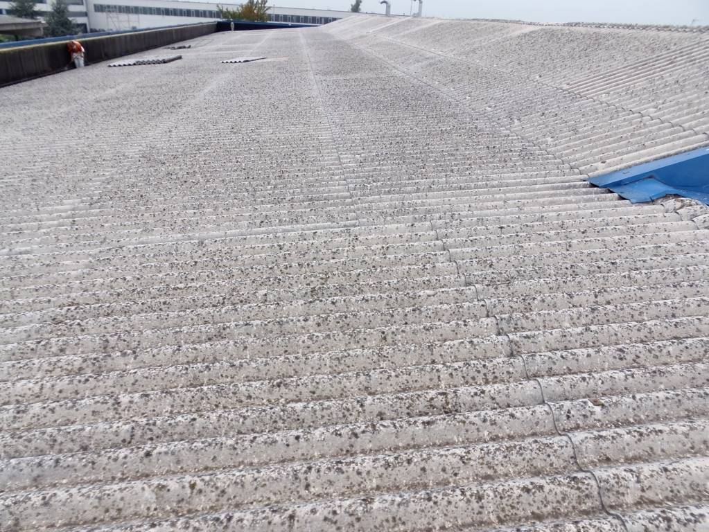 smaltimento amianto struttura tetto