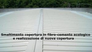 realizzazione nuova copertura smaltimento amianto