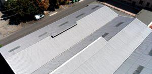 capannoni e strada smaltimento amianto