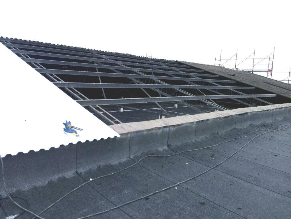 copertura scheletro tetto smaltimento amianto
