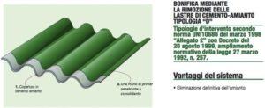 disegno di tegole verdi smaltimento amianto