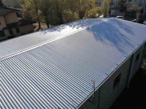 copertura tetto con rivestimento protettivo